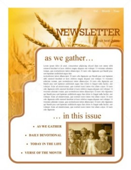 Gospel Mission newsletter