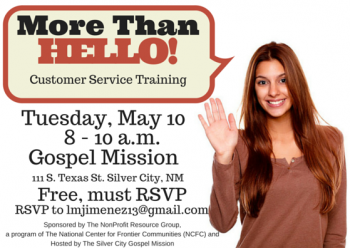 What's New At The Gospel Mission For The Week Of May 9th-15th