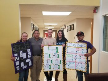 WNMU Kinesiology students and their exercise posters